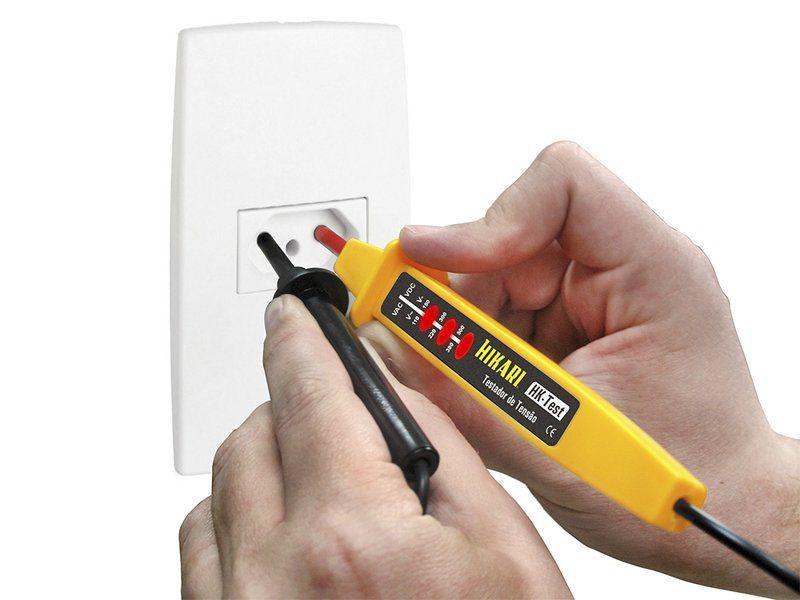 Testador De Tensão Hikari Hk-test Com 3 Níveis De Ca/cc  - EMPORIO K