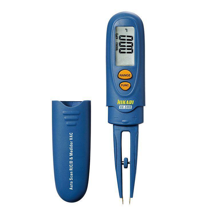 Multimetro Testador De Componentes Smd Tipo Pinça Lcd Hikari  - EMPORIO K