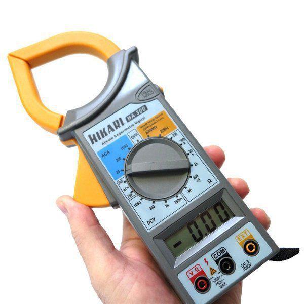 Alicate Amperímetro Digital HA-300 HIKARI Ac Dc Cat II Diodo e Continuidade  - EMPORIO K