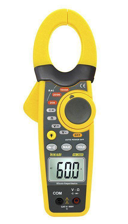 Alicate Amperímetro Digital Hikari Ha-3600  - EMPORIO K