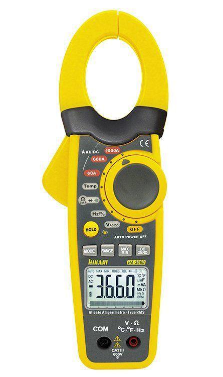Alicate Amperímetro Digital Ha-3660  Hikari  - EMPORIO K