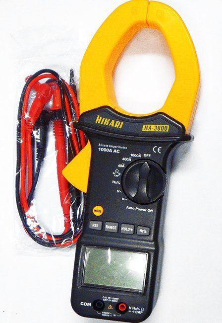 Alicate Amperimetro Digital Profissional Hikari Ha-3800  - EMPORIO K