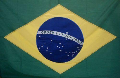 Bandeira Brasil Oficial Bordada 1,12 X 1,60 -2,5 Panos  - EMPORIO K