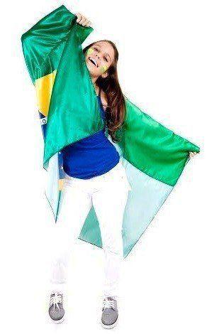 Bandeira Brasil Para Vestir Corpo 0,90x1,28  - EMPORIO K