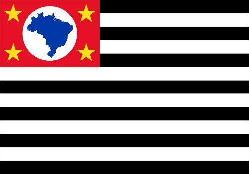Bandeira Estado São Paulo Bordada 1,12x1,60 Metros 2.5 Panos  - EMPORIO K