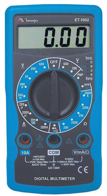 Multímetro Digital Profissional Minipa ET-1002  - EMPORIO K