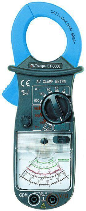 Alicate Amperímetro Analógico Minipa ET-3006 Garra 34mm - CAT II 600V  - EMPORIO K