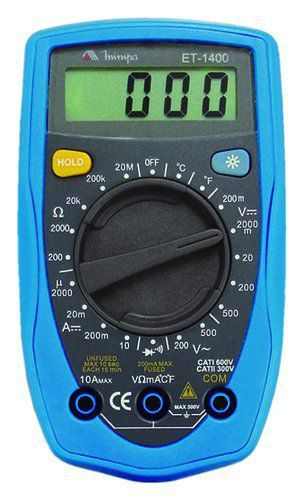 Multímetro Digital ET-1400  Minipa 20 Ohms Temp Data Hold  - EMPORIO K