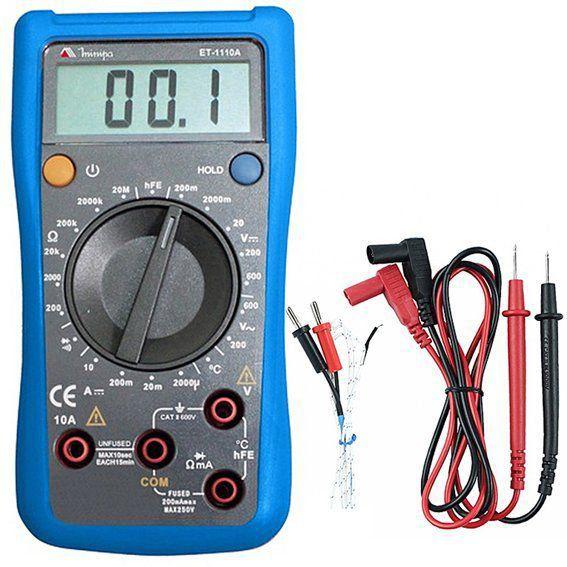 Multímetro Digital Profissional Minipa ET-1110A  - EMPORIO K