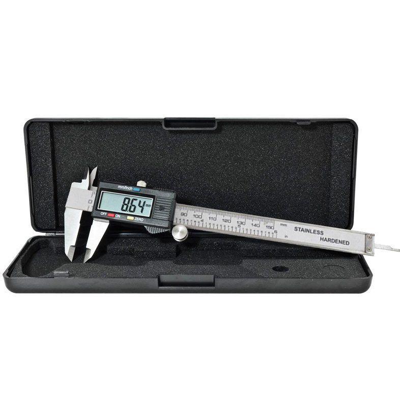 """Paquímetro Digital em Aço Inox 150 Mm 5"""" com Estojo 684132 Lee Tools  - EMPORIO K"""
