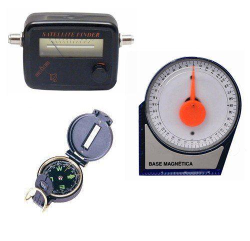 Kit Instalador Parabolica Bussola Sat Finder Inclinometro  - EMPORIO K