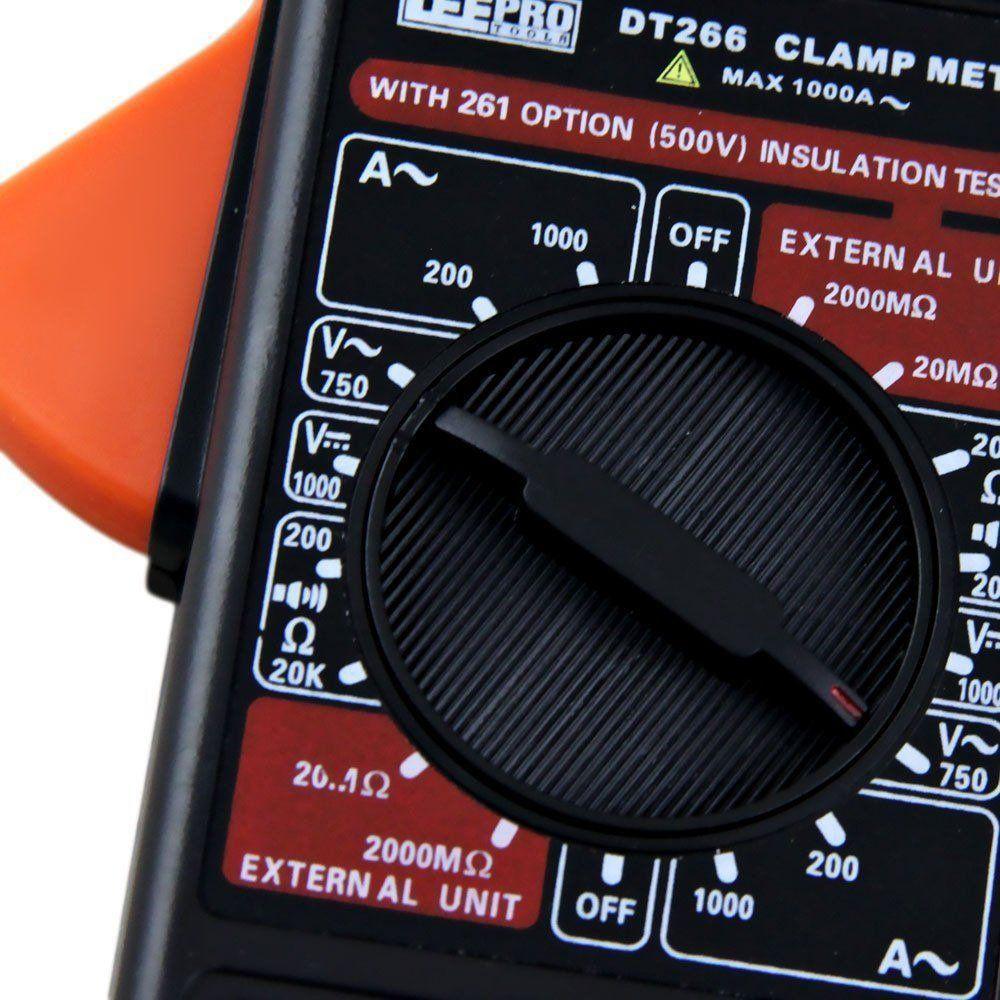 Alicate Amperímetro Digital DT 266 LeeTools 673129  - EMPORIO K
