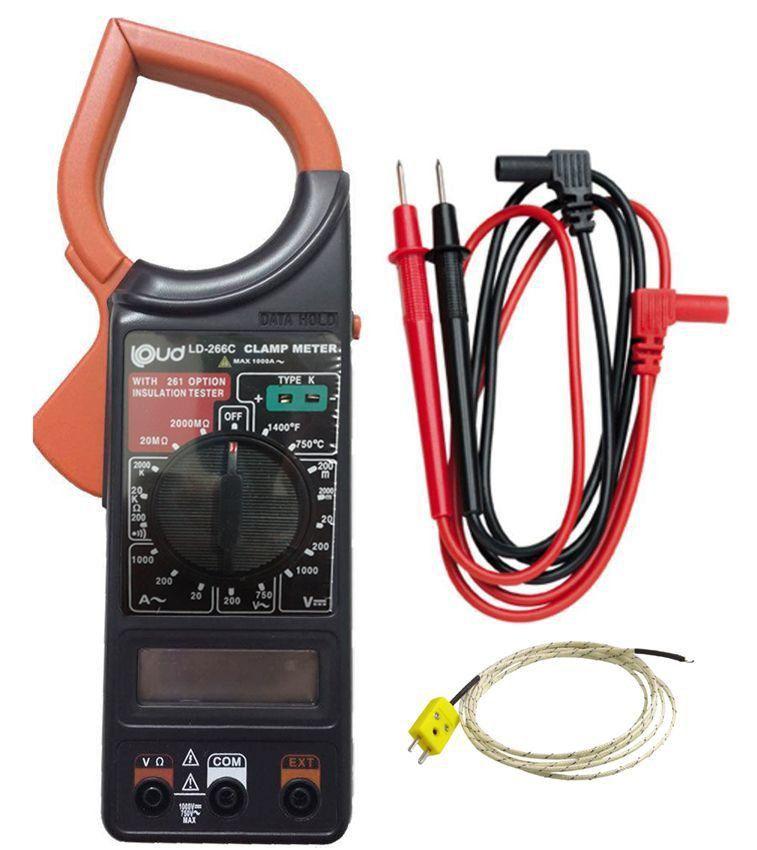 Alicate Amperímetro Digital Med Temperatura Ld-266C Loud  - EMPORIO K