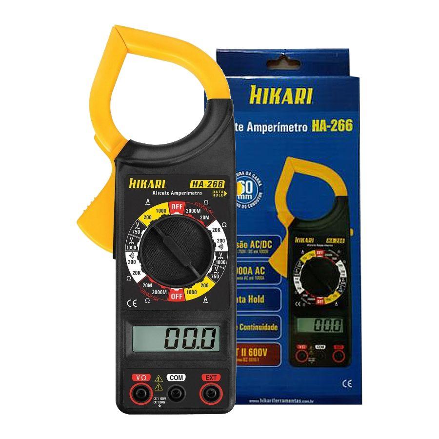 Alicate Amperímetro Multimetro Digital Hikari Ha-266  - EMPORIO K