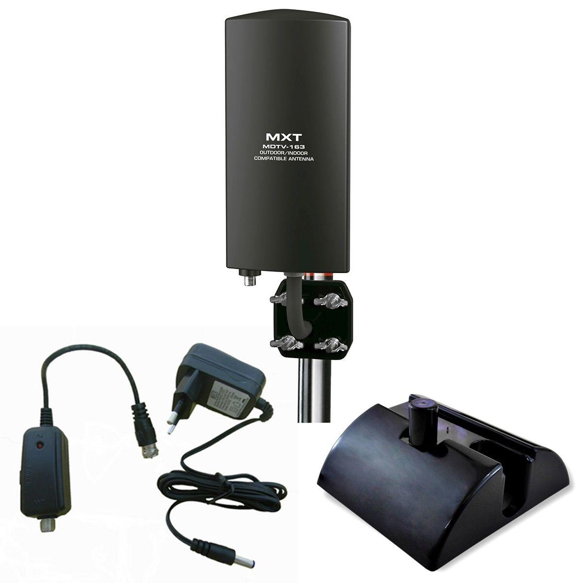 Antena Amplificada UHF/VHF/HDTV Interna 25db  MDTV 163  - EMPORIO K