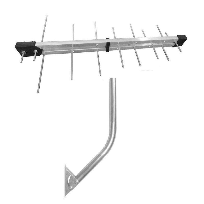 Antena UHF Digital 16 elementos + Mastro Suporte Fixação Articulado  - EMPORIO K