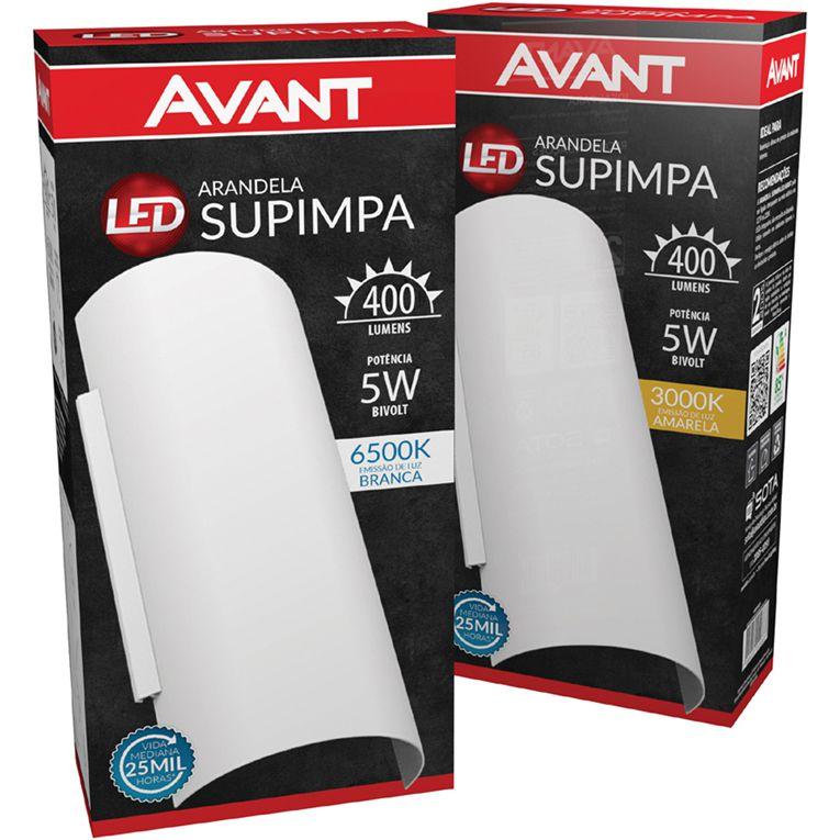 Arandela Led Avant 5w Bivolt com Lampada 400 Lúmens  - EMPORIO K