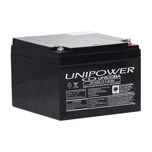 Bateria Selada Unipower VRLA 12V 26Ah UP12260  - EMPORIO K