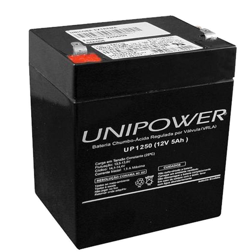 Bateria Selada Unipower VRLA 12V 5,0Ah UP1250  - EMPORIO K