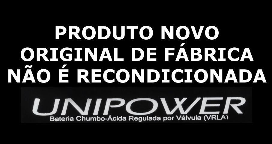 Bateria Selada Unipower  VRLA 6V 4,5Ah modelo UP645seg Luz Emergencia Brinquedos Alarmes  - EMPORIO K