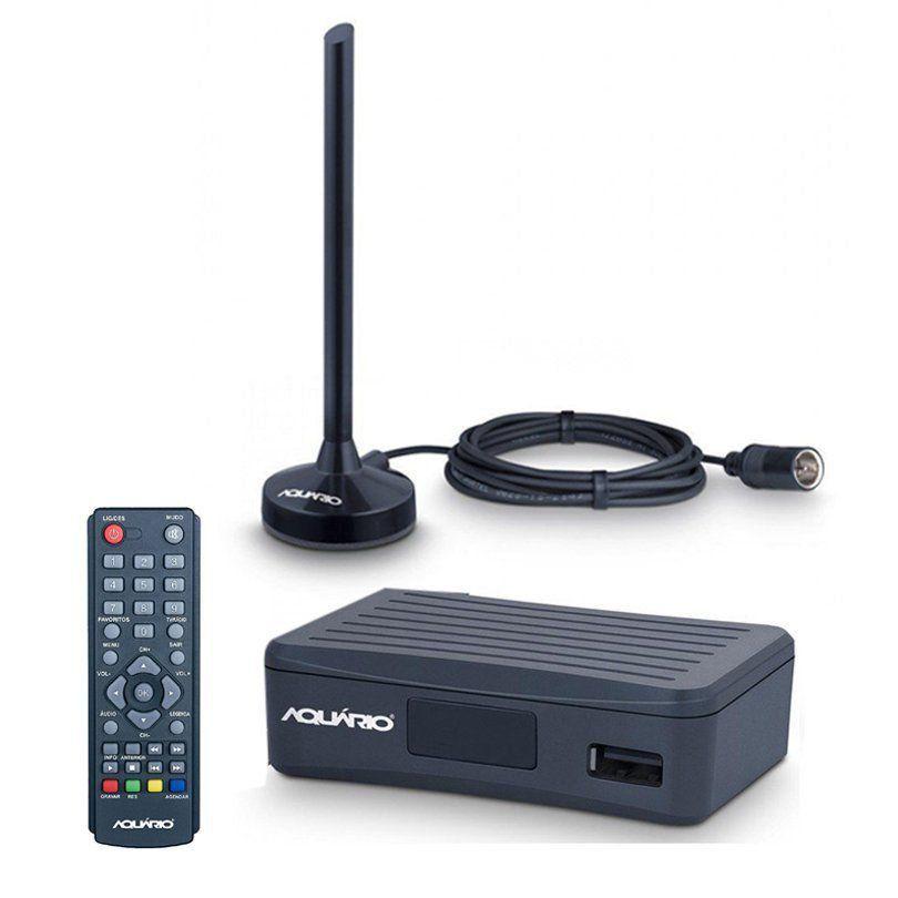 Conversor e Antena Digital Aquário Dtv-4100 Função Gravador Full Hd  - EMPORIO K