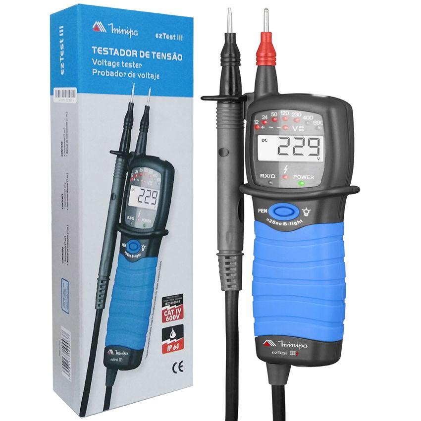 Detector Testador de Tensão Minipa EZ TEST III Cat IV 600v  - EMPORIO K