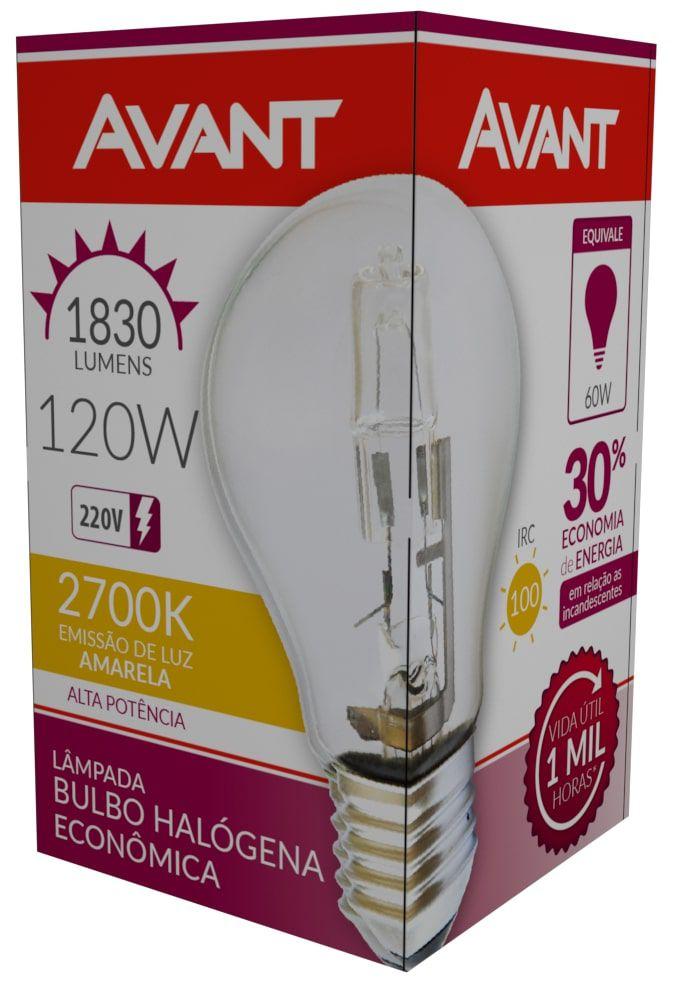 Kit 10 Lampada Bulbo Halogena Decorativa 2700k 120W 220V  - EMPORIO K