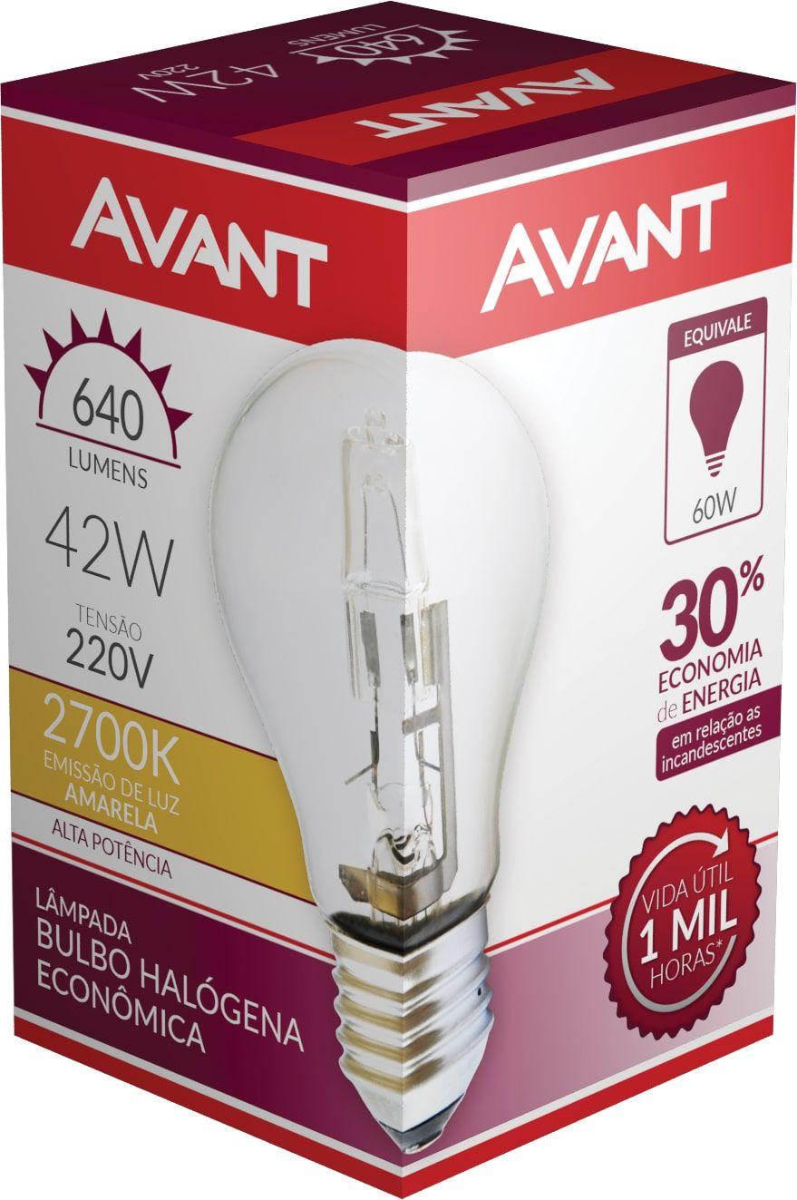 Kit 10 Lampada Bulbo Halogena Decorativa 2700k 42W 220V  - EMPORIO K