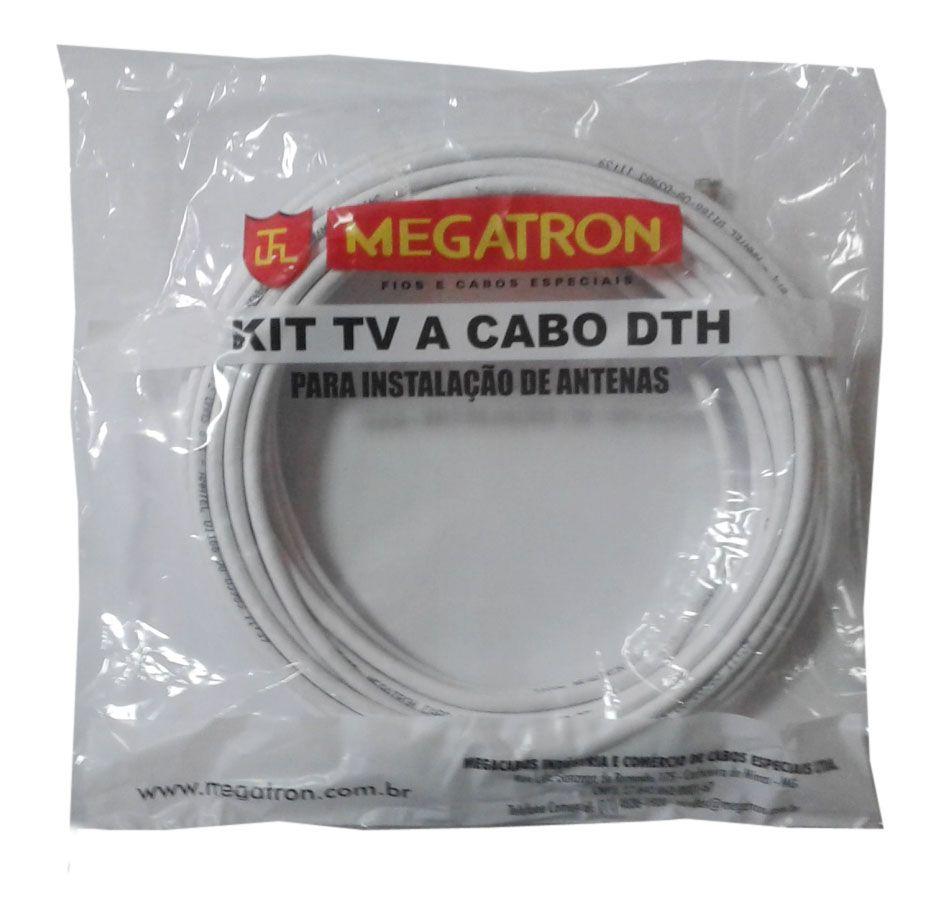 Kit cabo coaxial 15 mts p/ Antena Parabolica Uhf Vhf DIGITAL  - EMPORIO K