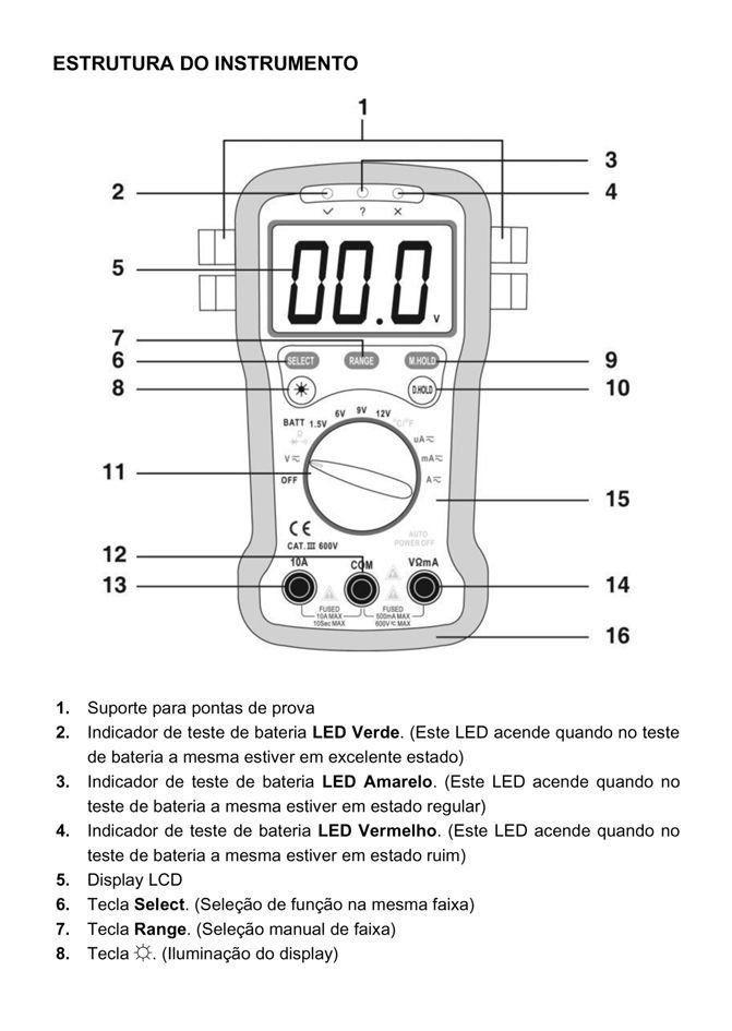 Multímetro Digital com Braçadeira Hikari HM-2021  - EMPORIO K