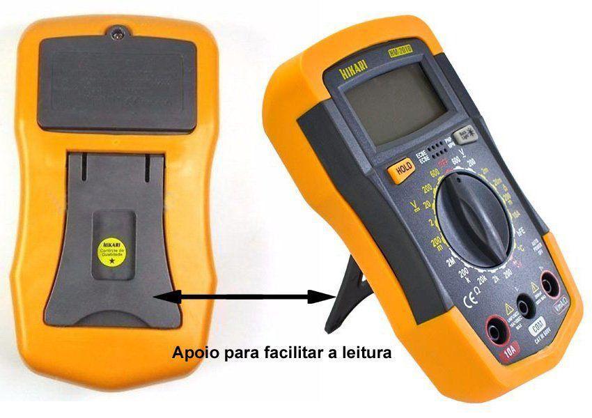 Multimetro Digital Hikari HM-2010  Ac/Dc Diodo Resistencia Temperatura  - EMPORIO K