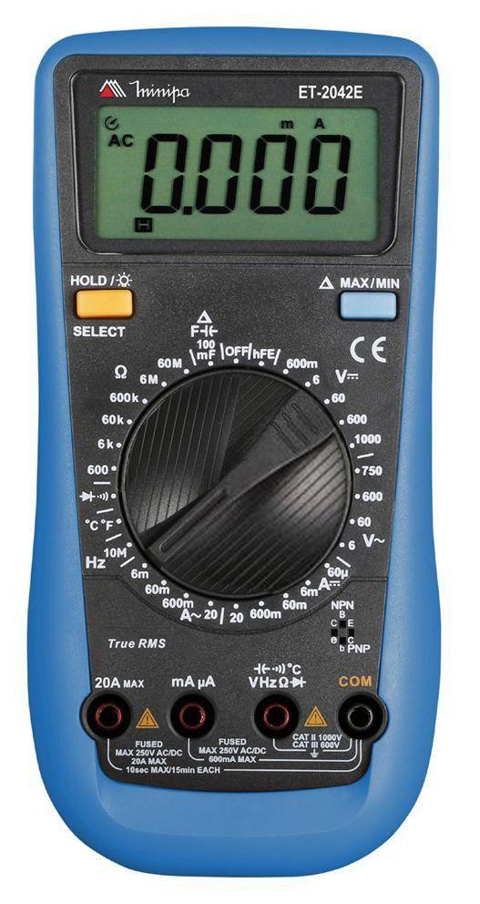 Multímetro Digital Et-2042e Minipa Data True Rms Categ III  - EMPORIO K