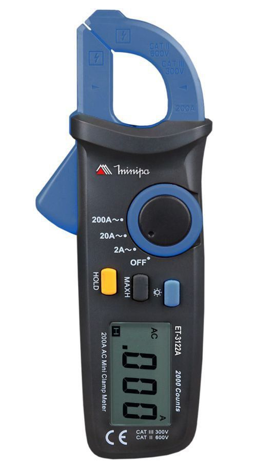 Alicate Amperimetro Digital 300 V Cat Iii Et-3122a Minipa  - EMPORIO K