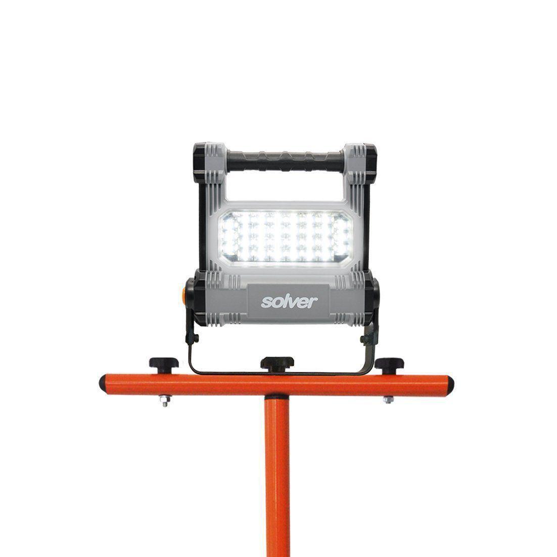 Refletor Portátil Pro Recarregável LED Solver SLP-501 e Suporte Tripé para refletor  - EMPORIO K