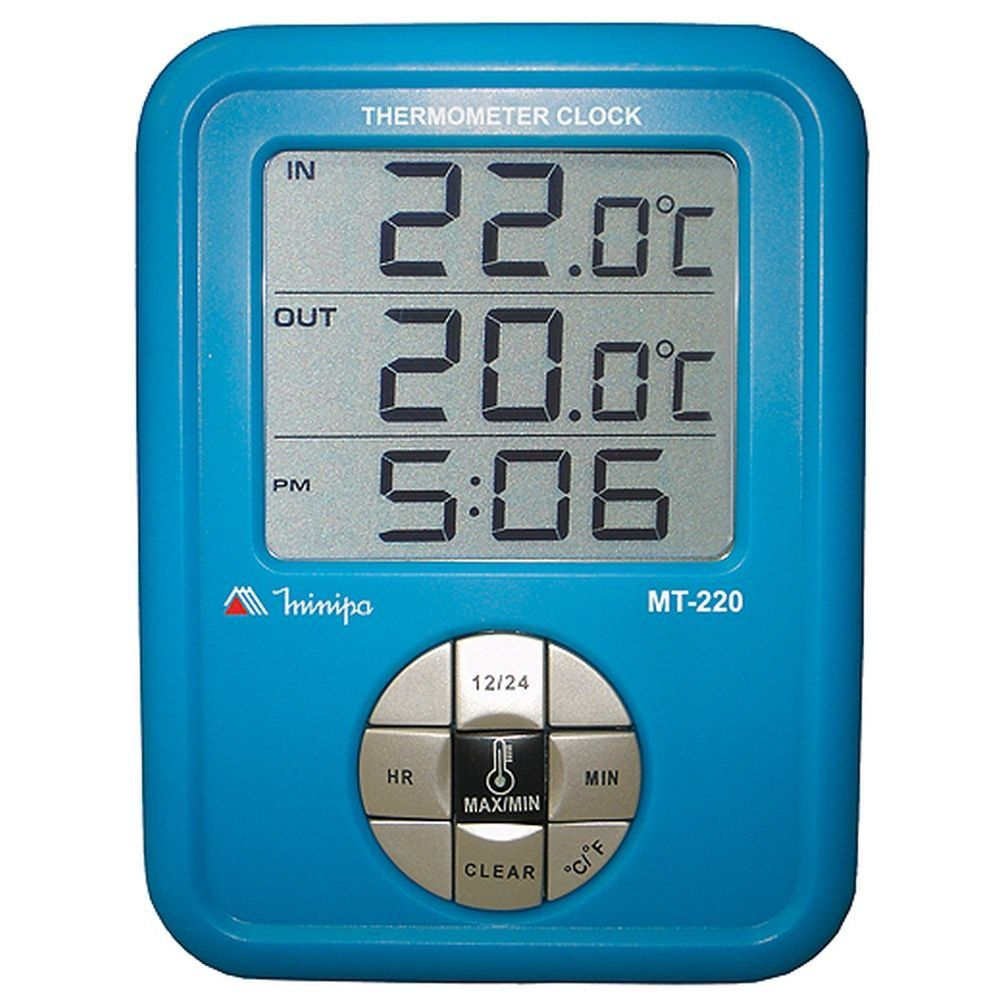 Relógio Termômetro Digital Int./Ext. Minipa MT-220  - EMPORIO K