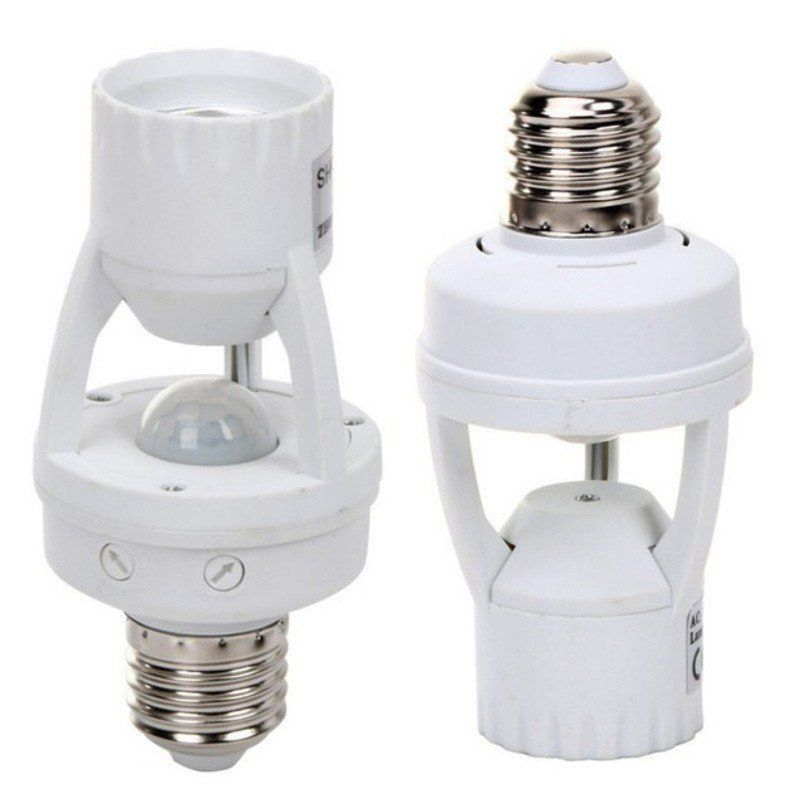 Sensor Presença Infravermelho E27 lampadas Comuns e Led Fotocelula  - EMPORIO K