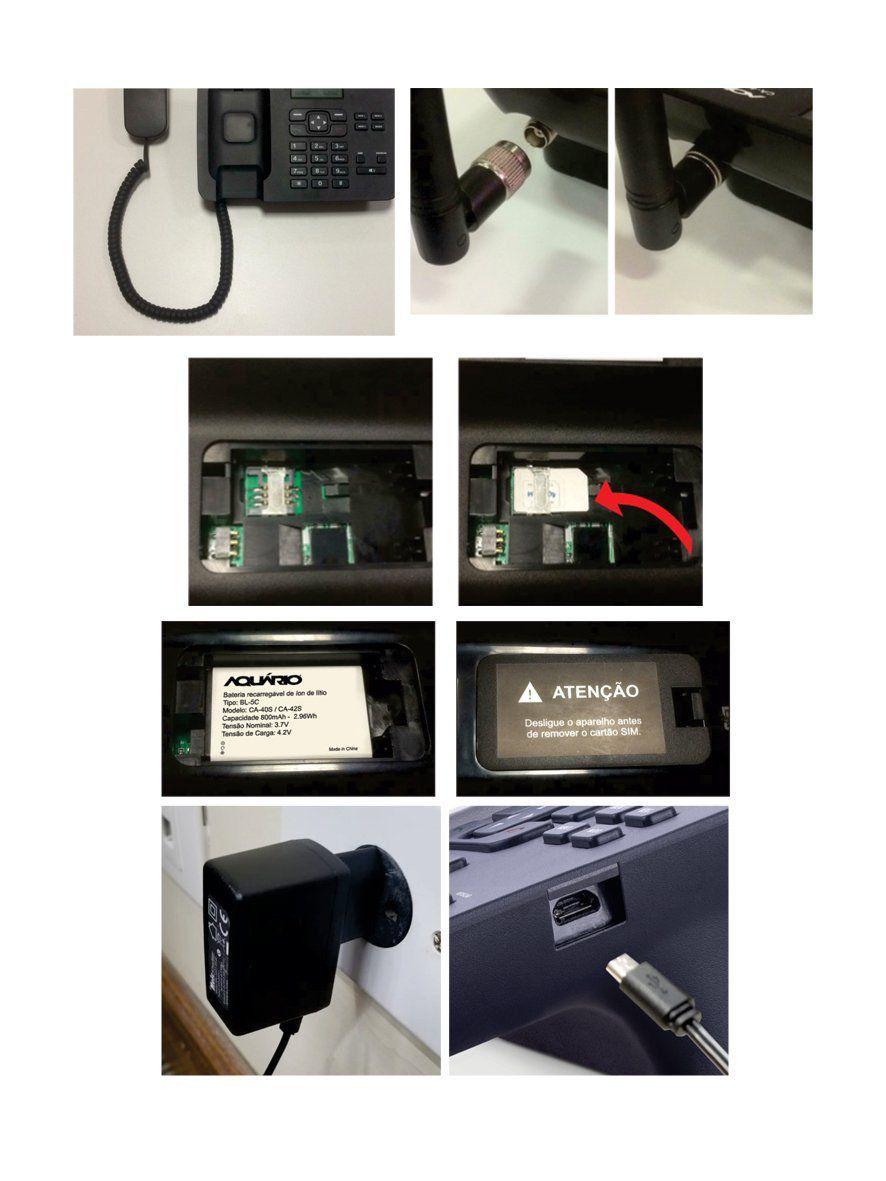 Telefone Celular Fixo Mesa CA 42-S Aquario Rural  Dual Chip Quadriband  - EMPORIO K
