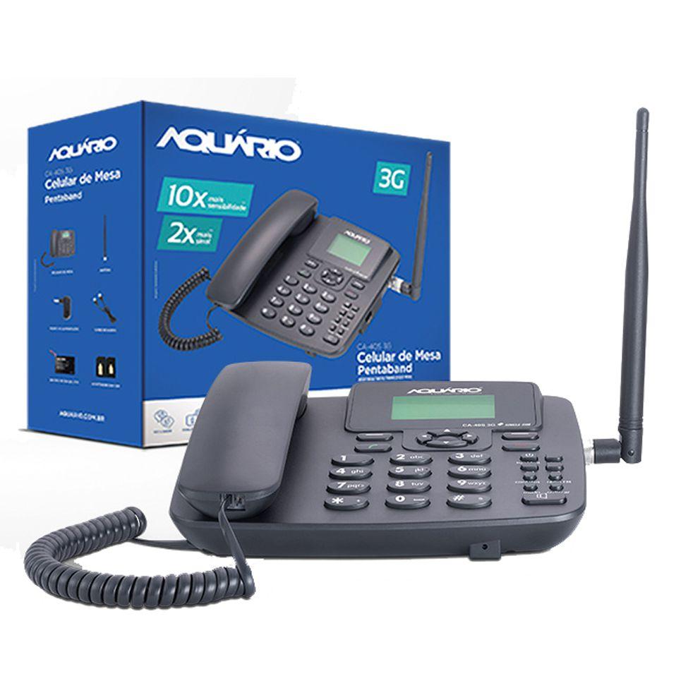 Telefone Celular Rural Fixo Aquario Ca 40s 3g 5 Bandas  - EMPORIO K