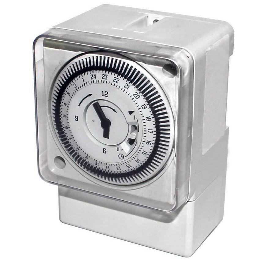 Timer Temporizador Industrial Elcon DQ 189 16 A Trilho Din c/ 96 Programações  - EMPORIO K