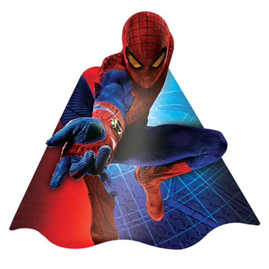 Chapéu de Aniversário Homem Aranha - 8 unidades