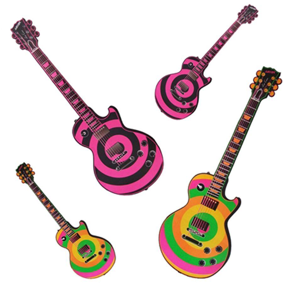 Painel Decorativo Festa Retrô Guitarra