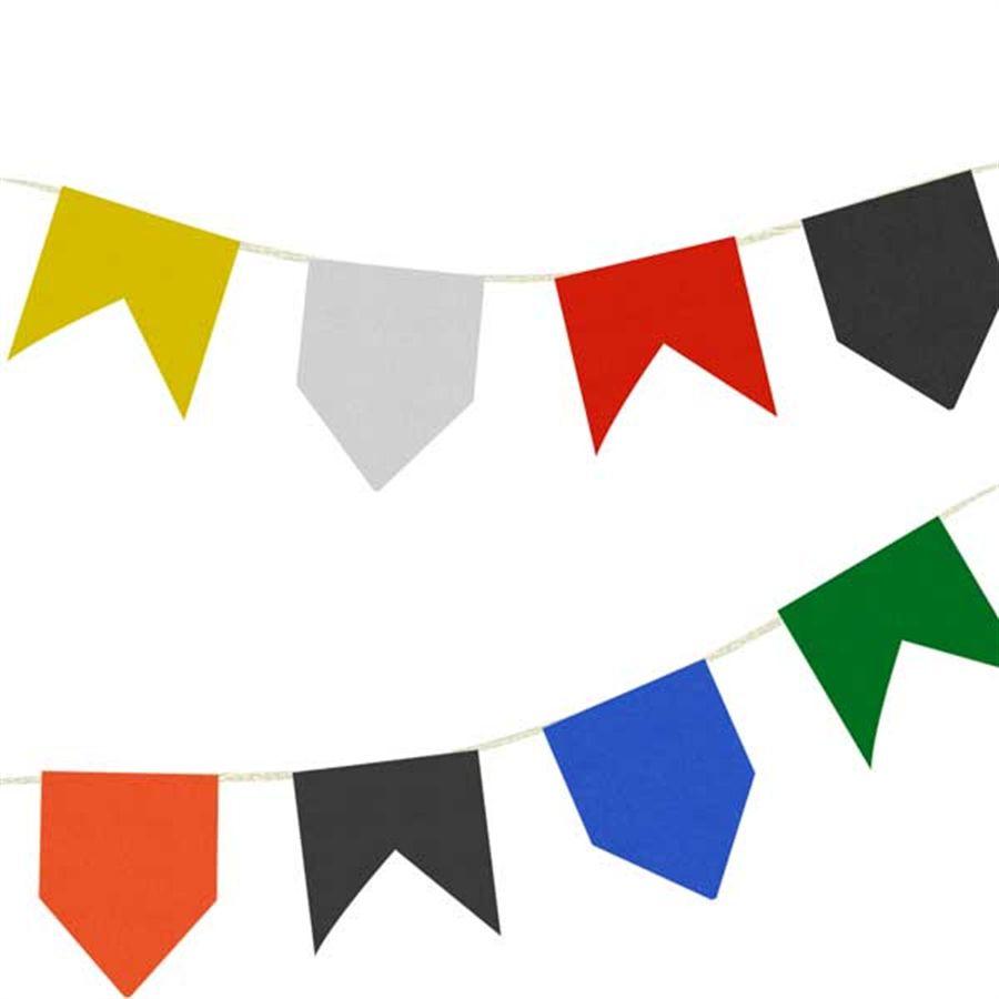 Bandeirinha Junina em Papel Seda - 10 metros