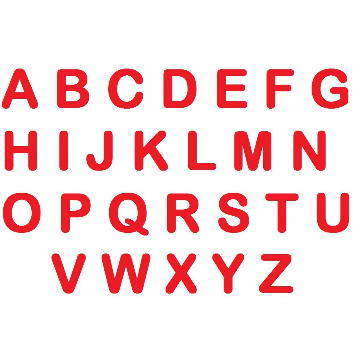 Letras em EVA - Vermelho