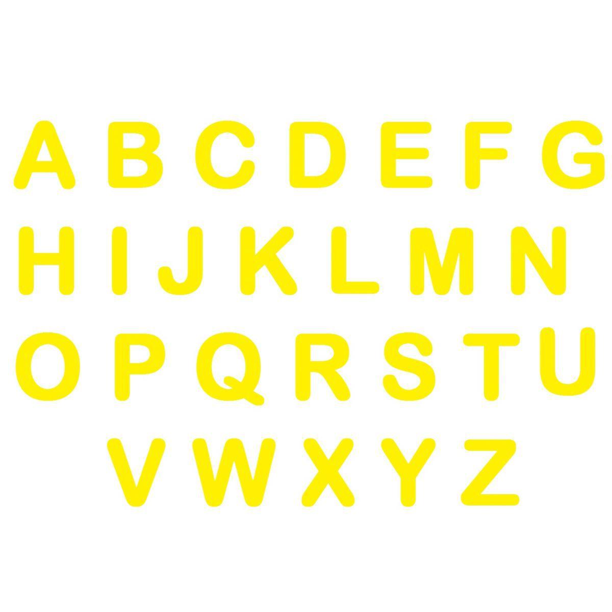 Letras em EVA - Amarelo