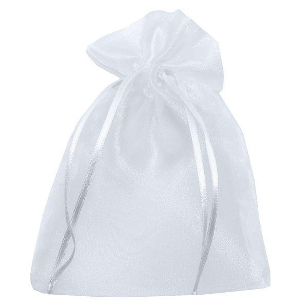 Saquinho em Organza 9,5cmx14cm - Branco
