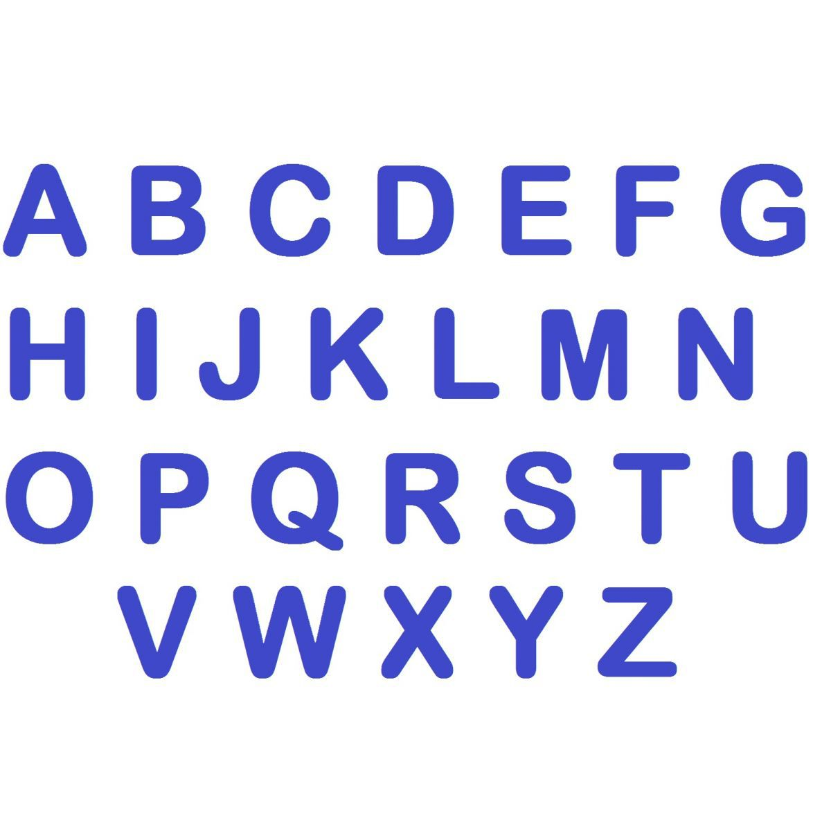 Letras em EVA - Azul Royal