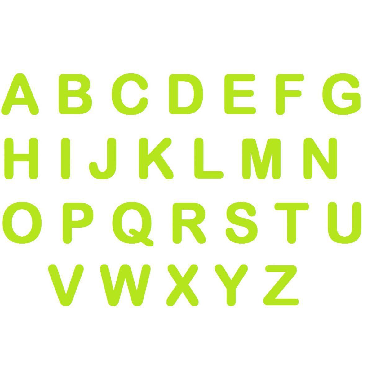 Letras em EVA - Verde Claro