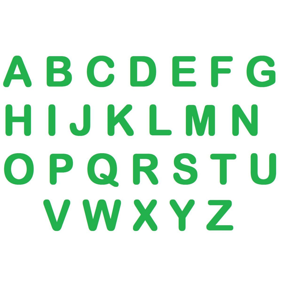 Letras em EVA - Verde Bandeira