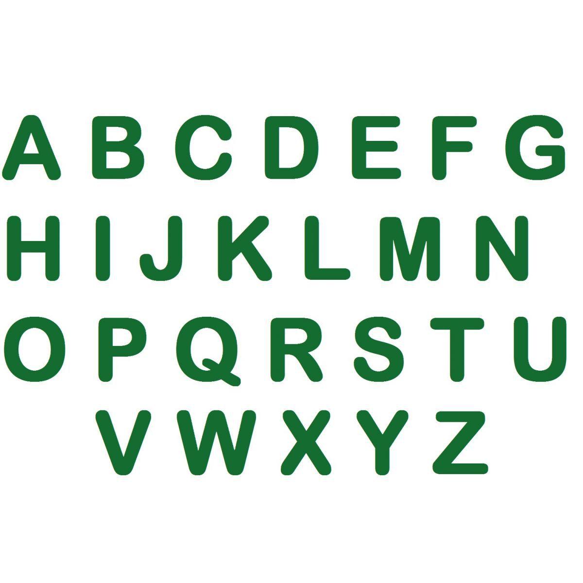 Letras em EVA - Verde Escuro