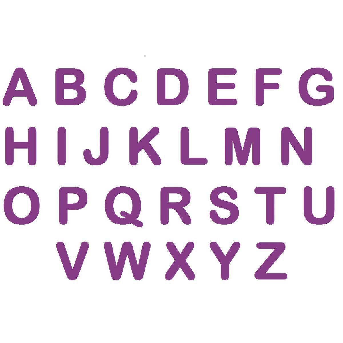 Letras em EVA - Roxo